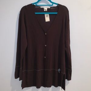 NWT max studio chocolate cardigan